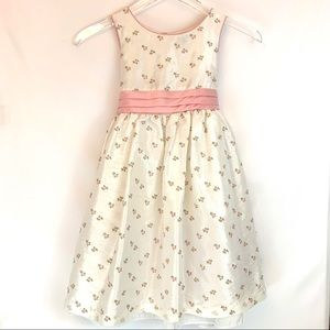 George Shiny White and Pink Floral Party Dress